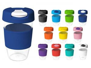 Flip Lid BPA Free Plastic Reusable Cups (535ml)