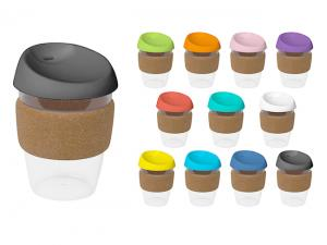 BPA Free India Plastic Cups With Cork Band (340ml)