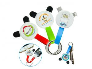 Panda Connector Cable Keyrings