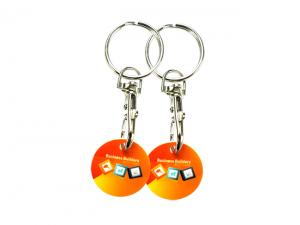Plastic Trolley Token Coin Keyrings