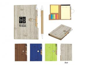 Wood Look Notebook With Sticky Notes