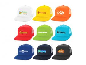 Colourful Flat Peak Trucker Caps
