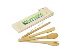 Eco Bamboo Cutlery Sets With Straw