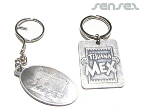 Brushed Antique Silver Key Chains