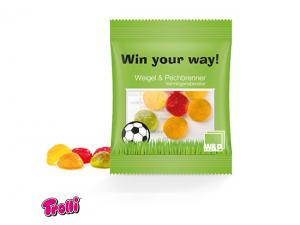 Soccer Ball Shapped Jelly Gum Mini Bags (10g)