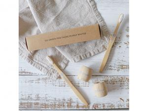 Bamboo Toothbrushes With Base Holder