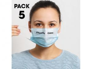 Sets Of 5 Disposable Face Masks