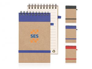Eco Spiral Recycled Paper Notepads (Small)