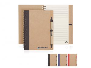 Eco Spiral Notebook And Pen Sets (Medium)