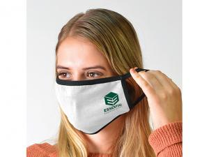 White Cotton Face Masks - 3 Layer (150gsm)
