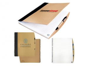Heavy Duty Cardboard Notebooks With Pens
