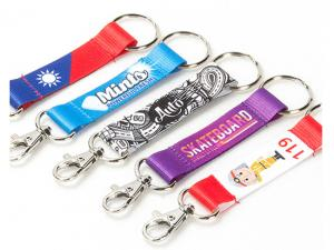 Full Colour Printed Webbing Strap Keychains