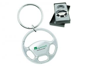 Steering Wheel Shaped Metal Keychains