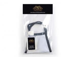 Reusable White Face Mask (3-Ply, 150gsm) And Sanitiser Travel Packs