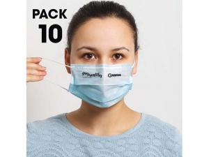Sets Of 10 Disposable Face Masks