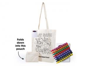 Foldable Calico Colouring In Bags