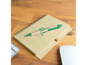 Unbleached Eco Spiral Cardboard Notebooks With Pens