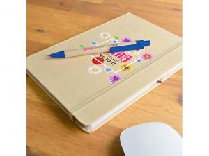 Cirro PU Natural Notebooks (A5) With Pen