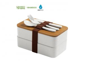 Eco Bamboo Fibre Lunchbox Sets (2x 700ml)