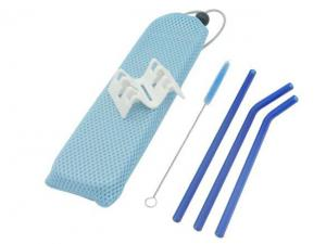 Glass Straw And Brush Sets In Pouch (4Pcs)