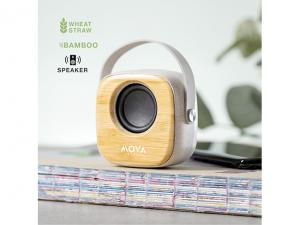Wheat Straw & Bamboo Bluetooth Speakers