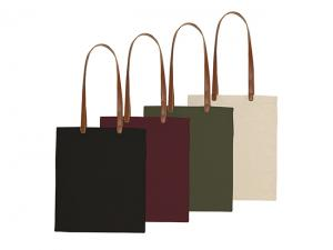 Cotton Tote Bags With Leatherette Handles (220gsm)