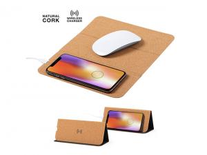 Cork Mousepads With Built-In Wireless Charging Function