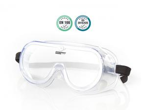 Clear Safety Goggles With Elastic