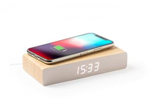 Wooden Alarm Clocks With Built-In Wireless Charger