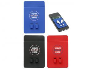 Silicone Phone Wallets With Earphone Holder