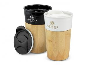 Bamboo Ceramic Coffee Cups (450ml)