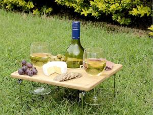 Bamboo Picnic Table For Two
