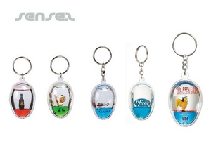 oval liquid shaped keyring