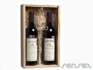 Timber Wine Boxes (double bottle)