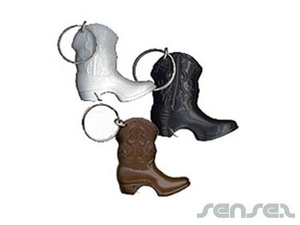 Cowboy Boot Bottle Opener Key Chains