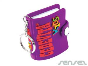kids pvc notebook keyring