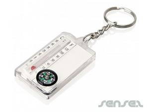 Thermometer & Compass Key Chains