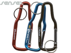 Bottle Shaped Carabiner Key Chains