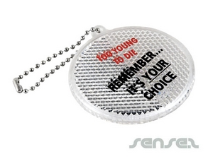 Round Reflective Key Chains