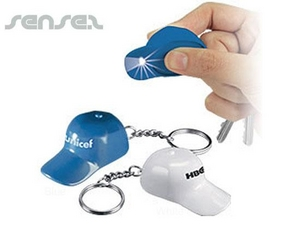 Baseball Cap Torch Keyrings