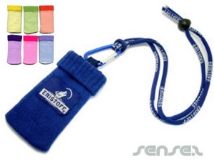 mobile phone sock with lanyard