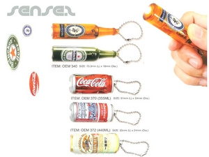 Torch Keyrings (Can/Bottle)