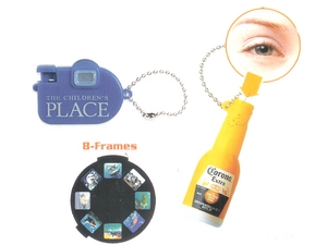 Bottle Shaped View Finder Key Rings
