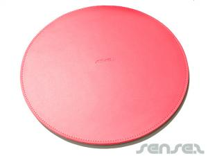 Round Leather Mouse Pads