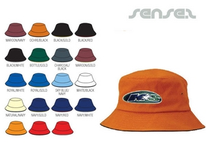 Bucket Hats With Sandwich Trim
