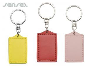 Leather Keyring Tags