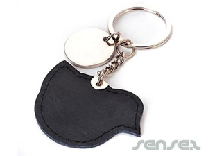 Leather Shaped Key Chains