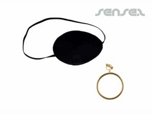Pirate Eye Patches And Earring