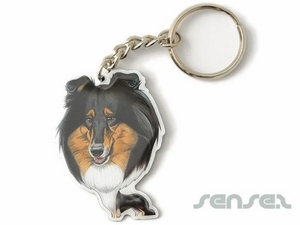 Full Colour Printed Metal Keyrings