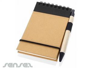 A6 Eco Note Pads with Pen